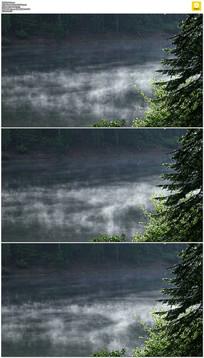 湖面上的雾气实拍视频素材