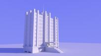 酒店3d max模型