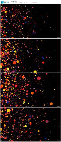 彩色粒子光斑背景视频
