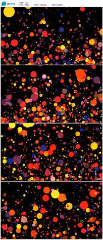 带透明通彩色粒子光斑