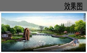 公园景观水车效果图 JPG