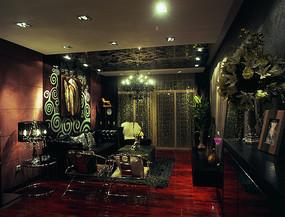欧式复古客厅
