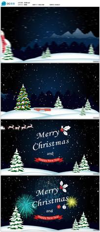 圣诞节新年祝福片头视频