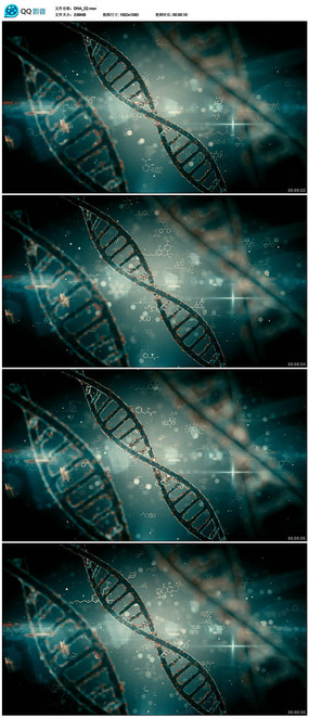 双螺旋结构医疗背景视频