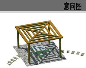透气框架凉亭素材 PSD
