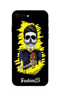 骷髅头摇滚歌手手机壳图案