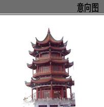 中式古典阁楼素材