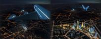 北京城市夜景视频