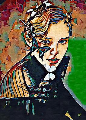 女人油画装饰画 JPG