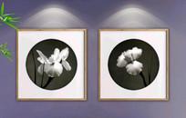 创意水墨兰花装饰画