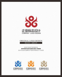 红色大气金融理财企业标志