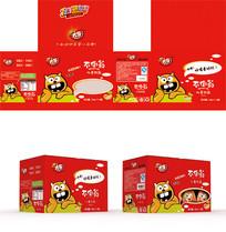 红色儿童饮料礼盒包装设计