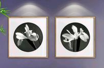 水墨兰花装饰画