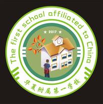 校园校徽矢量标志设计