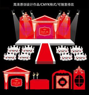 红色舞台设计
