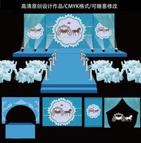 欧式梦幻之蓝高端婚礼舞台设计