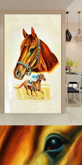手绘马头装饰画