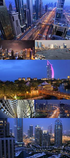 现代化大都市延时实拍视频