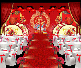 中式婚礼场景