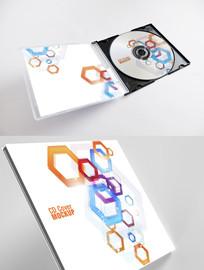 抽象艺术图形CD光盘封面设计