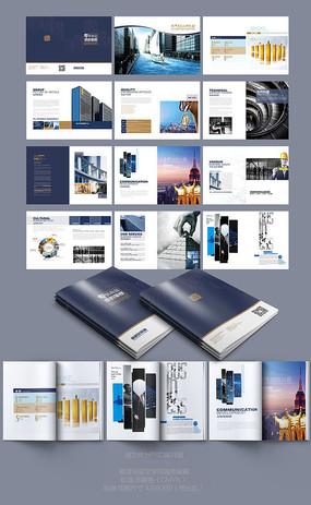 建筑工程画册模版 PSD