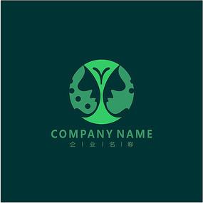 美容 女性 蝴蝶 标志 logo
