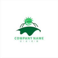 山水 旅游 太阳 标志 logo