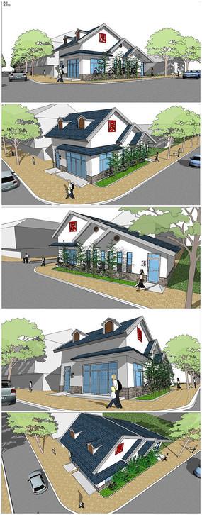 精品公共厕所建筑SU模型