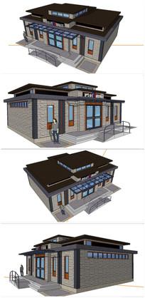 精细公共厕所建筑SU模型