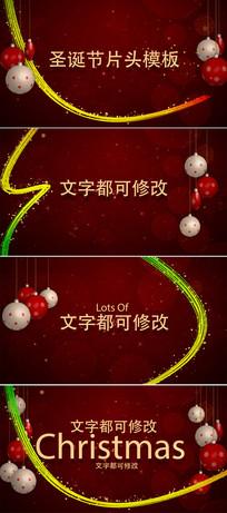 圣诞节新年节日问候片头模板