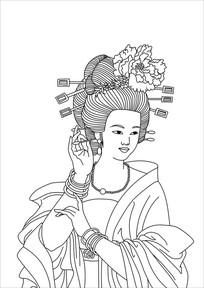 古代美妃装饰画