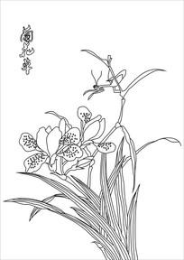 兰花草装饰画