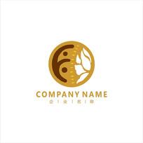 莲花 古风 标志 logo
