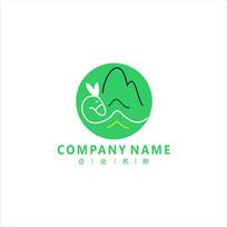 旅游 山水 标志 logo