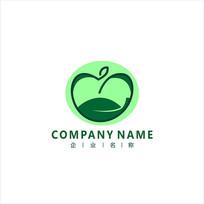 苹果 绿色 水果 标志 logo