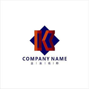 字母K 投资 金融 标志 logo CDR