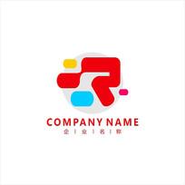 字母R 创意 标志 logo
