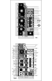 餐厅平面吊顶CAD布置图