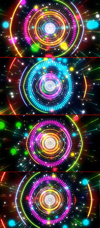 4K粒子光效万花筒动感节奏