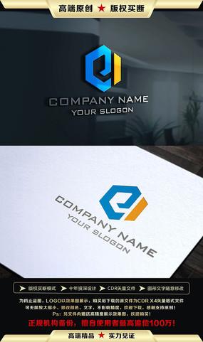e字母开头logo