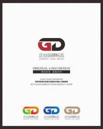 GD大气创意字母组合标志