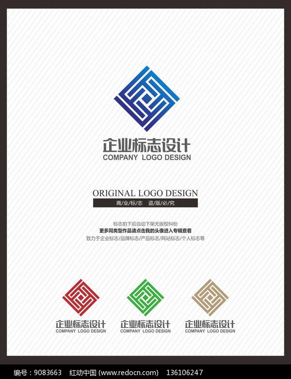 建筑空间设计装饰广告公司标志图片