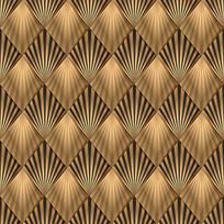 金色方格四方连续背景图案