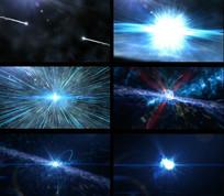 粒子碰撞爆炸特效视频素材