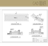 瓷砖饰面花坛CAD