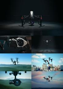 航拍机飞行器无人机视频素材