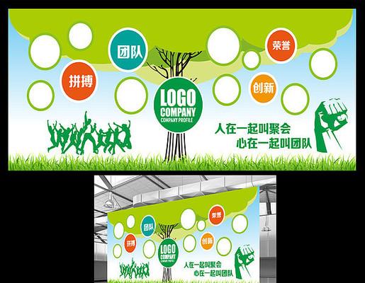 校园企业照片树展板