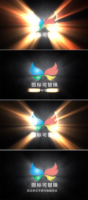 大气光芒企业标志展示ae模板