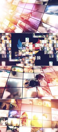 企业员工照片墙ae模板