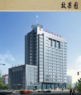 中心医院建筑设计效果图